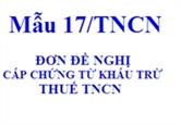 Thủ tục mua chứng từ khấu trừ thuế TNCN
